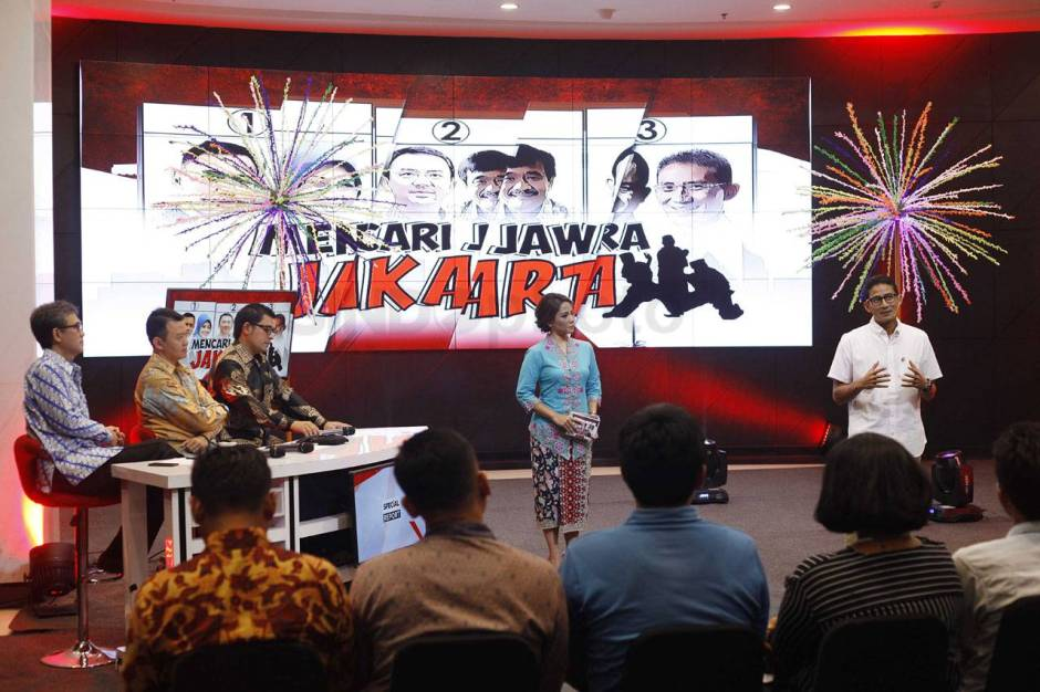 Cawagub Sandiaga Uno Tampil di Special Report iNews TV-2
