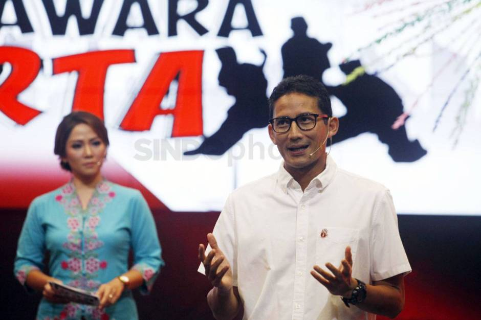 Cawagub Sandiaga Uno Tampil di Special Report iNews TV-3