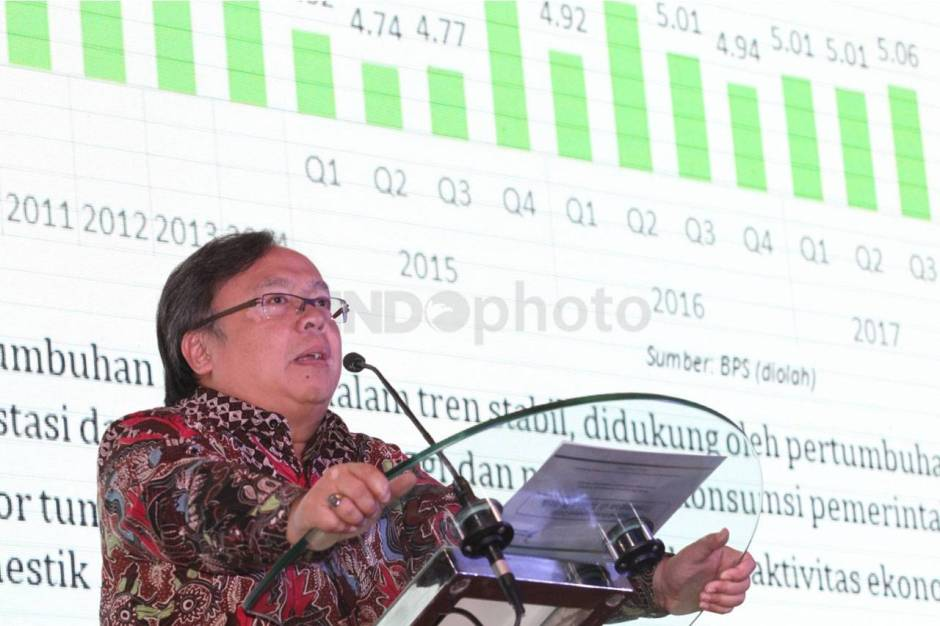 Menteri PPN Kepala Bappenas Hadiri Economic Investment Outlook 2018-2