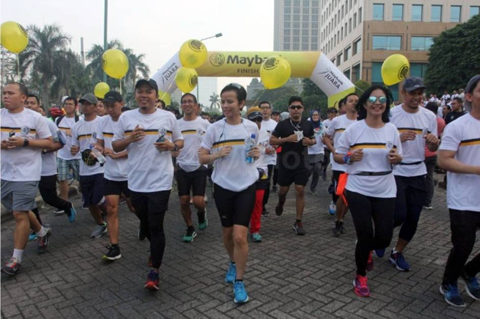 Rayakan HUT Ke 59 Maybank Indonesia Gelar Fun Walk-1
