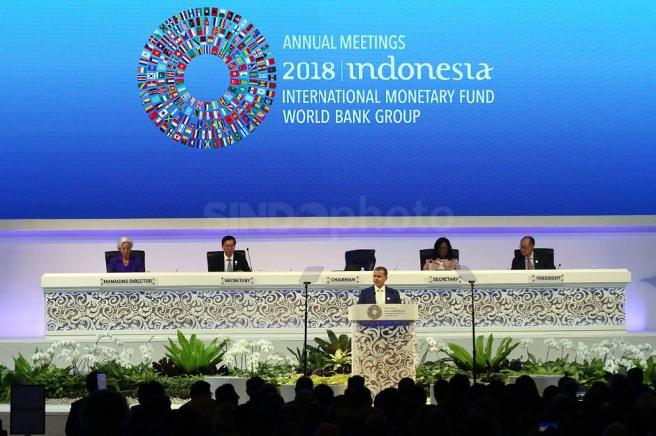 Presiden Jokowi Hadiri Pertemuan Tahunan IMF World Bank Group 2018-1