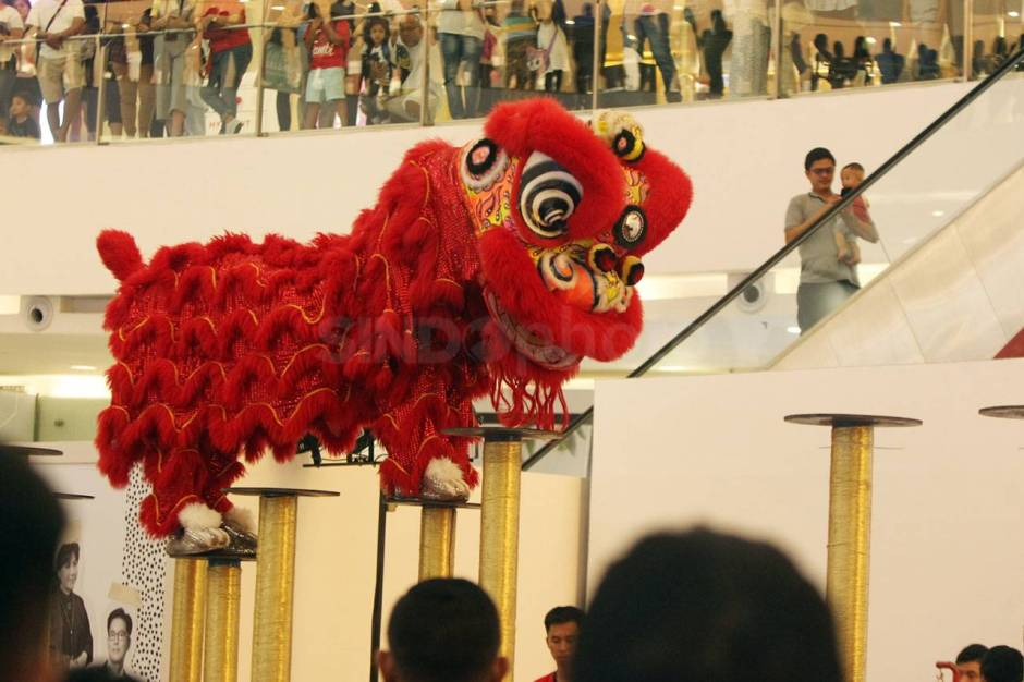 Aksi The King of Lion Dance in The World di Senayan City-2