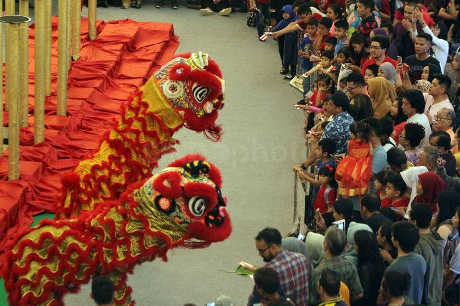 Aksi The King of Lion Dance in The World di Senayan City-3