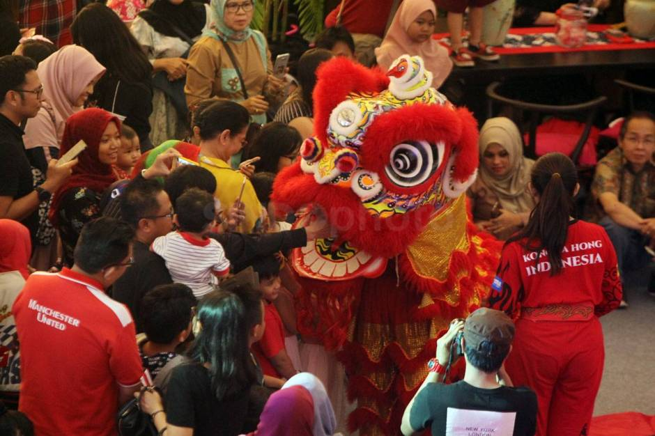 Aksi The King of Lion Dance in The World di Senayan City-4