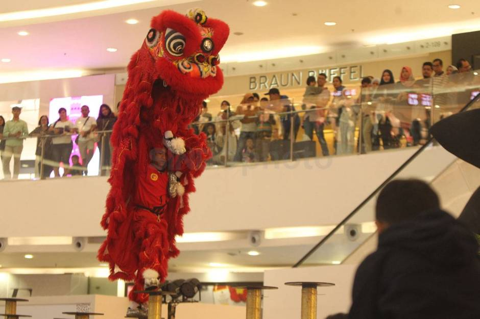 Aksi The King of Lion Dance in The World di Senayan City-5
