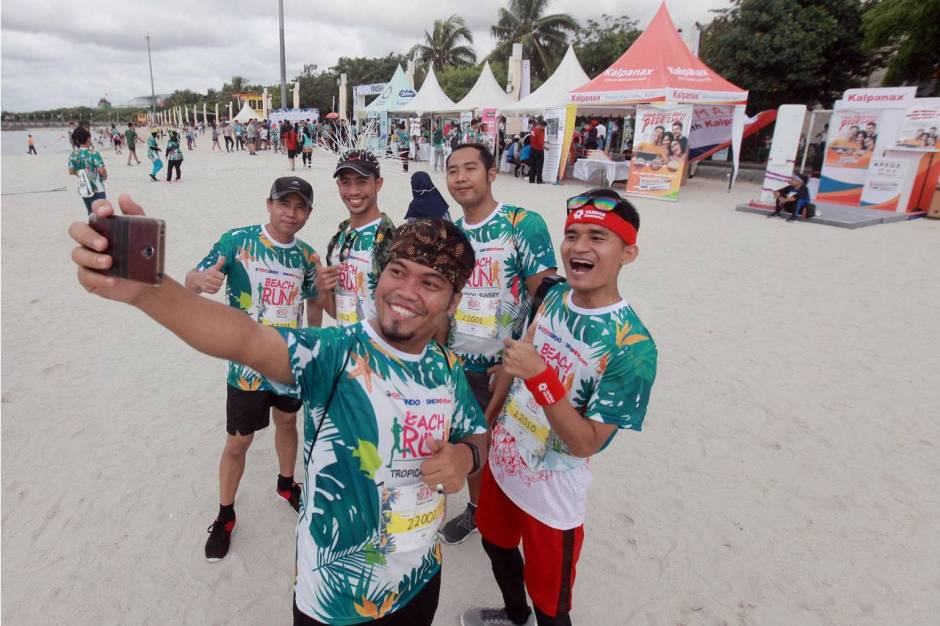 Serunya Beach Run Tropical Sunset di Pantai Lagoon Ancol-9