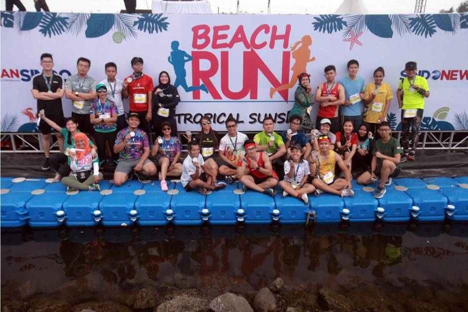 Serunya Beach Run Tropical Sunset di Pantai Lagoon Ancol-12