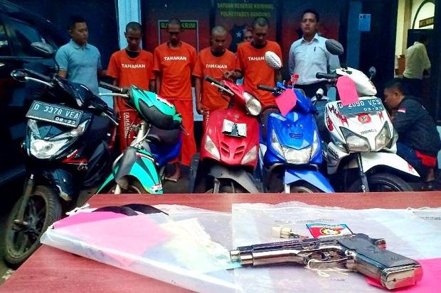 Polisi Gulung Komplotan Begal Motor Bersenjata Pistol Mainan