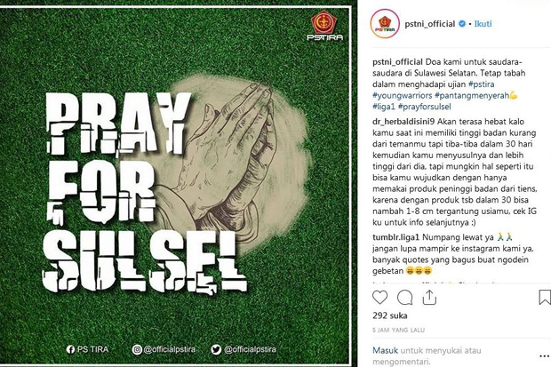 PS Tira Pray for Sulsel