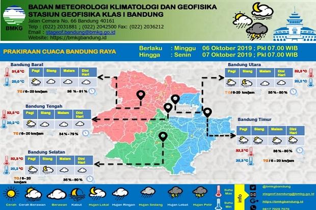 Hujan Lokal Bakal Guyur Bandung Selatan dan Utara Siang Ini