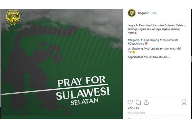 Bogor FC Pray for Sulsel