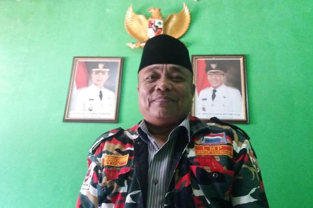 Ketua Laskar Merah Putih (LMP) Karawang Awandi Siroj