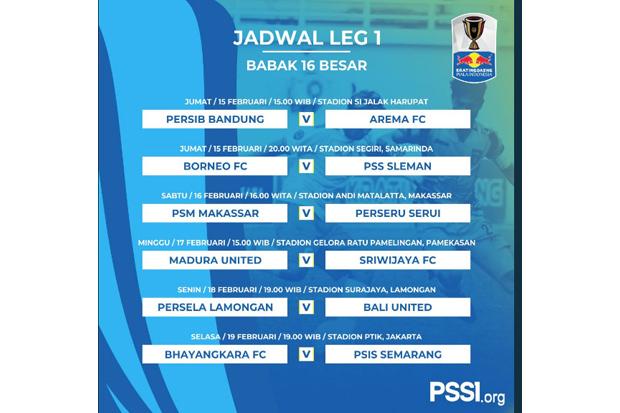 Jadwal Awal Babak  Besar Piala Indonesia Istimewa
