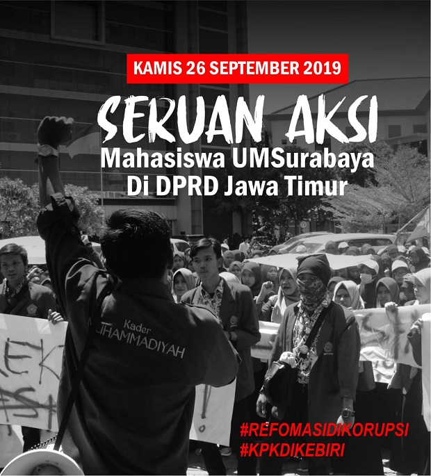BEM Unitomo Ajak Mahasiswa Pindah Kuliah di DPRD Jawa Timur