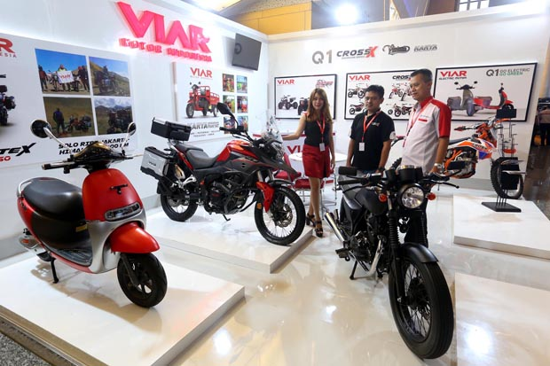 Tampilan Viar Vintech 200 cc, Goda Pengunjung IIMS Surabaya 2018
