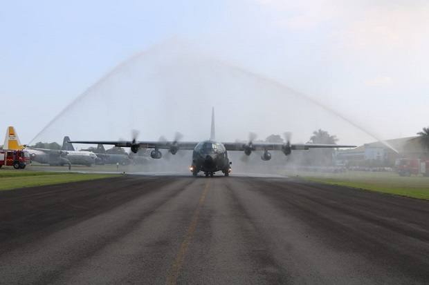35 Personil dan 1 Hercules Pindah Tugas ke Skadron Udara 33