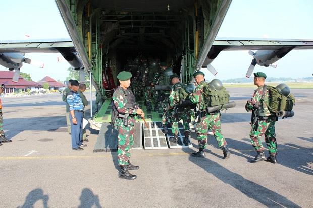 200 Prajurit Raider Kostrad Diberangkatkan ke Ibu Kota Jakarta