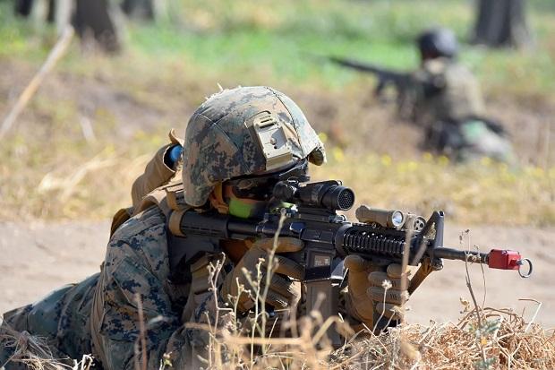 Marinir TNI AL Bersama Marinir AS, Hancurkan Musuh di Situbondo.