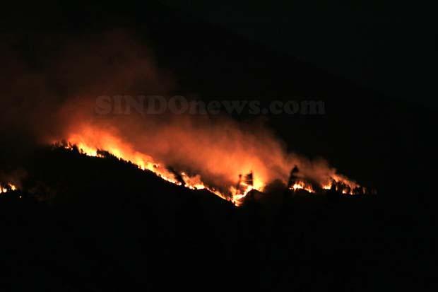 Tim Gabungan Dikerahkan Padamkan Kobaran Api di Lereng Arjuno