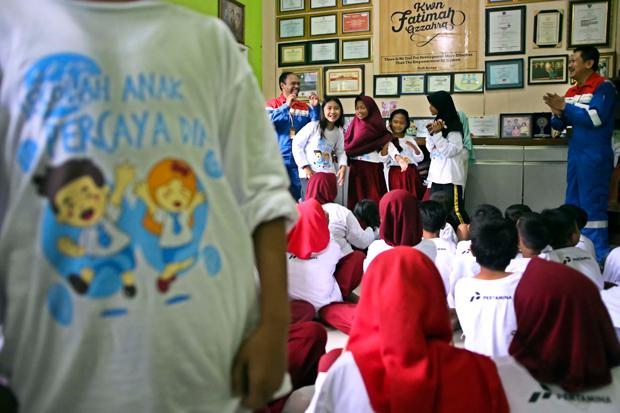Pertamina Mengajar Hadir di Sekolah Anak Percaya Diri