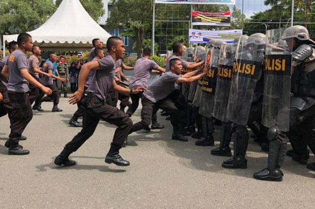 Simulasi Pengamanan Pemilu di Sulbar Libatkan Personil Gabungan