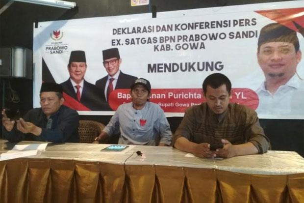 Foto Prabowo Subianto terpampang dalam spanduk saat deklarasi