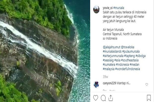 Air Terjun Mursala di Tapanuli Tengah, Airnya Luber ke Laut